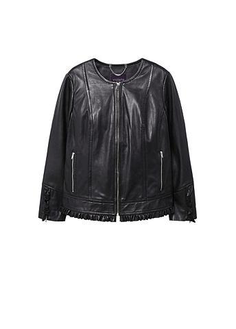 Куртка кожаная с Volant-Details