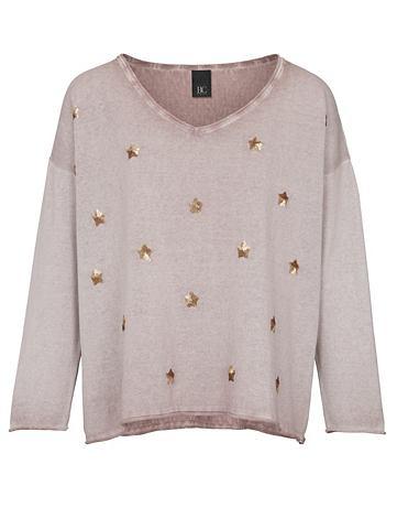 Пуловер с блестки