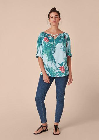 Блузка-рубашка с tropischem узор