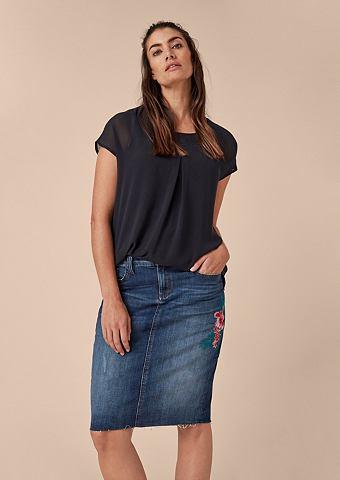 Юбка джинсовая с Embroidery