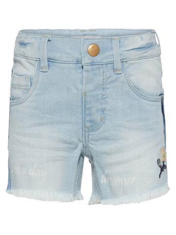 NAME IT Salli узкий форма шорты джинсовые