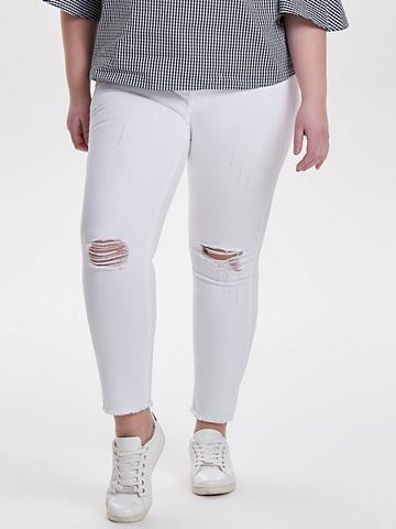 Curvy Destroyed узкий форма джинсы