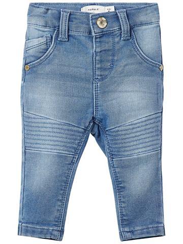 Узкий форма Sweatdenim джинсы