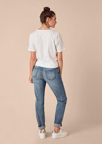Красивая Boyfriend: Schmuckstein-Jeans...