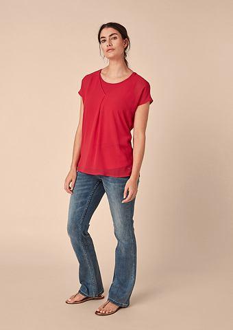 Блузка-рубашка из шифон