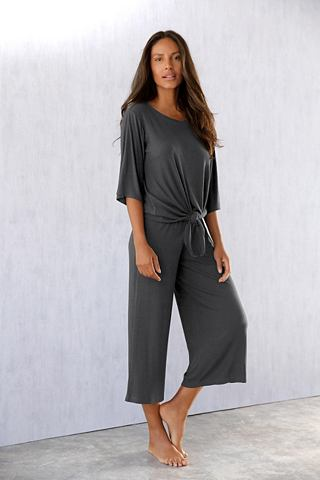 LASCANA Loungeset с geknotetem футболка и брюк...