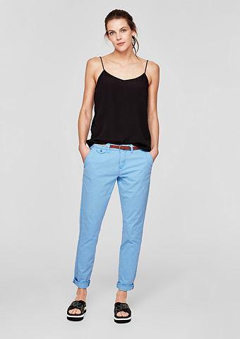 Элегантный узкий брюки с имитация терт...