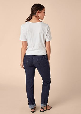 Curvy Зауженные эластичный Dark джинсы...