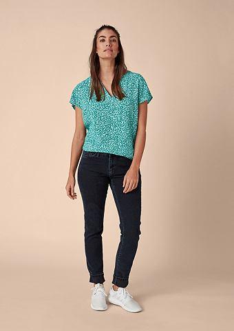Блузка-рубашка с повторяющийся узор