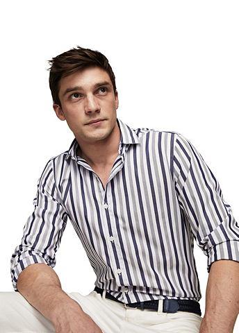 Узкий форма рубашка полосатая