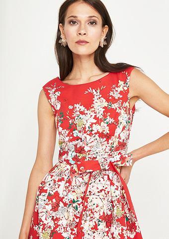 Элегантный платье с цветочным узором