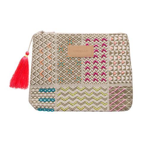 Клатч сумка с жемчуг и вышивка