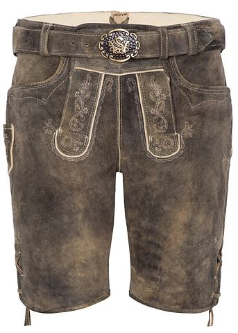 SPIETH & WENSKY Spieth & Wensky брюки кожаные Bibe...