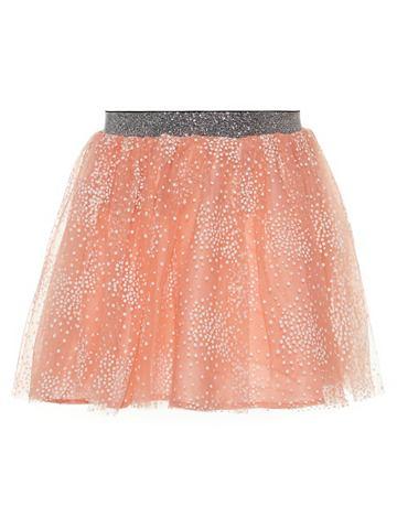 Пятнистый тюль юбка