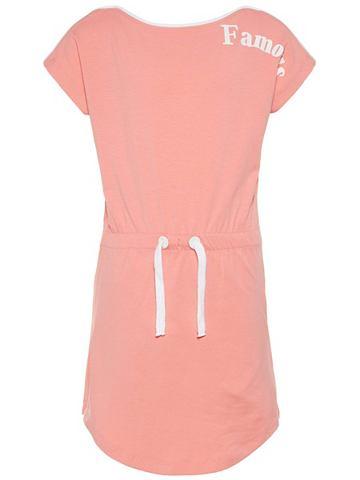 Узор платье с короткая рукавами