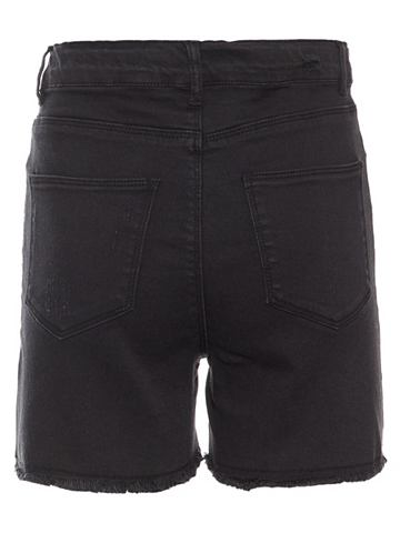 High талия Regular форма шорты джинсов...