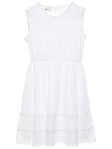 Вышитый тюль платье