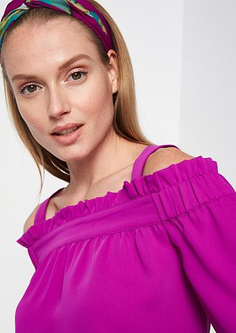 Schulterfreie блузка с легкой ткани с ...