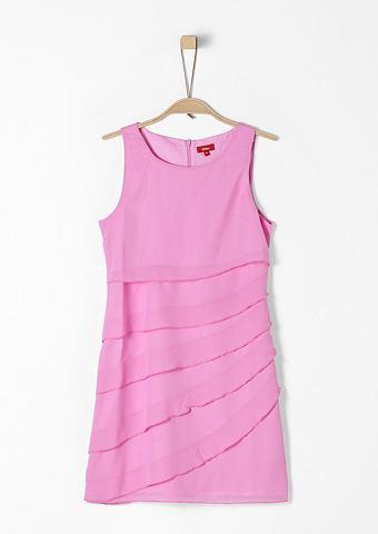 Платье с воланами из шифон для Mä...