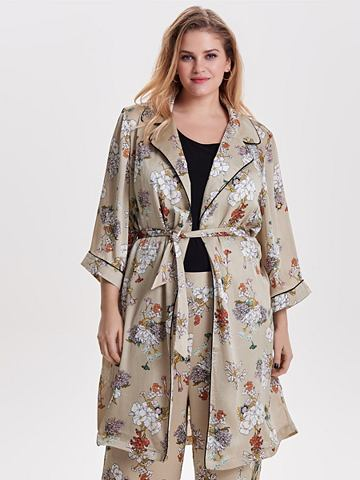 Curvy узор кимоно халат