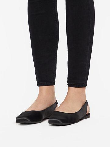 Quadratische кожа туфли с открытой пят...