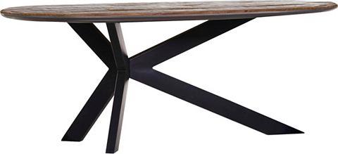 GUTMANN FACTORY Обеденный стол с Тарелка из Mangoholz
