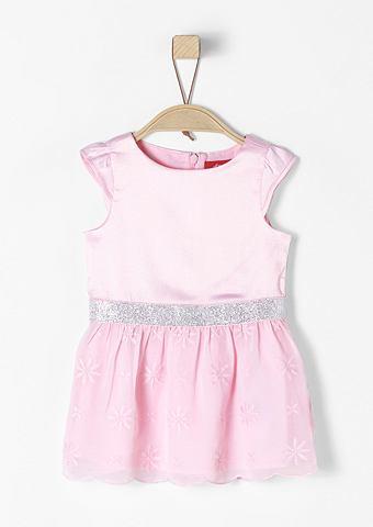 Праздничное платье в сочетание материа...