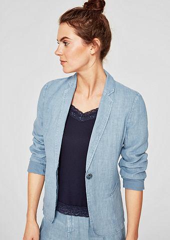 Пиджак льняной с имитация тертый ткани...
