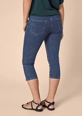 Curvy Зауженные капри джинсы с имитаци...