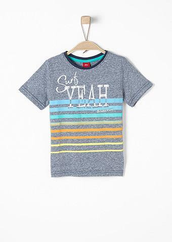 Темный Printmix-Shirt для Jungen