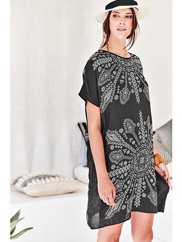 Платье шелковое с черно-белое узор