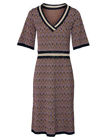 Платье трикотажное с c короткими рукав...