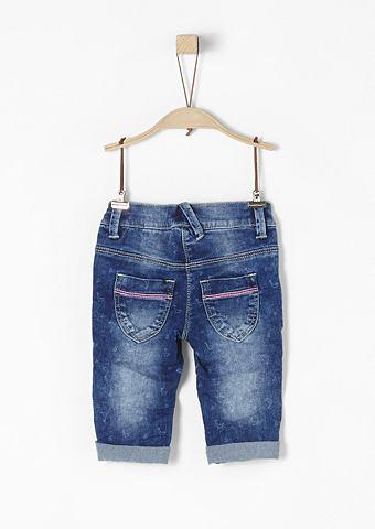 Капри-джинсы с повторяющийся узор для ...