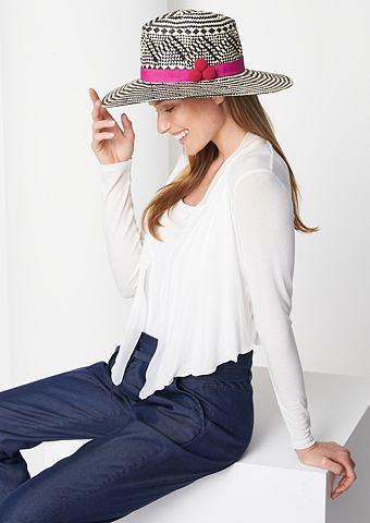 Классический шляпа соломенная в два цв...