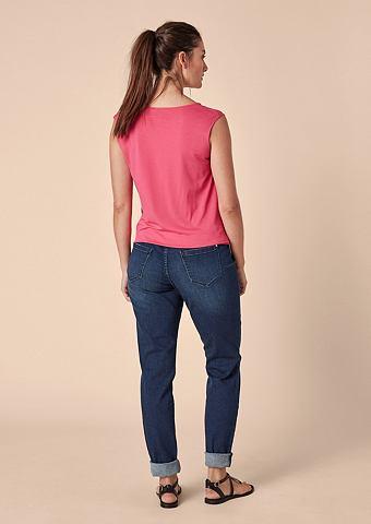 Красивая форма: джинсы с имитация терт...