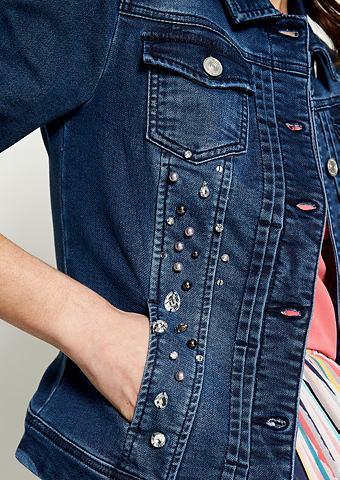 Блузон в имитация джинсовой ткани