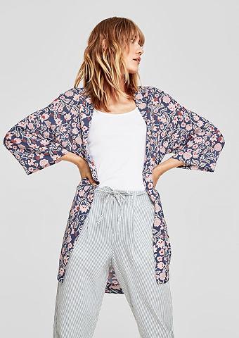 Кимоно халат с c цветочным узором
