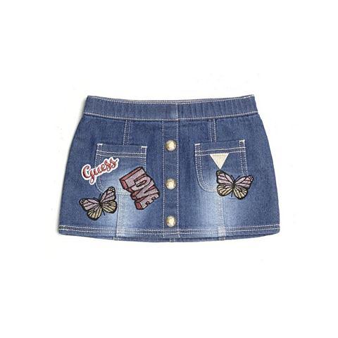 Юбка джинсовая приложений