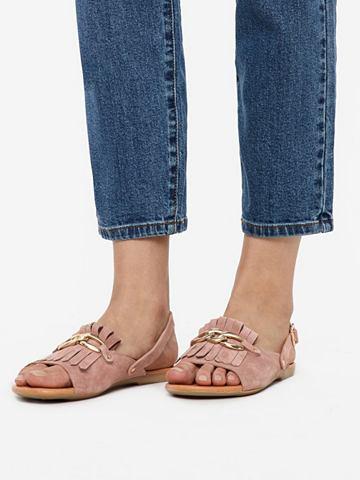Кожаная бахрома сандалии