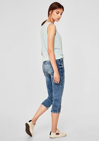 Элегантный капри джинсы с Button-Detai...