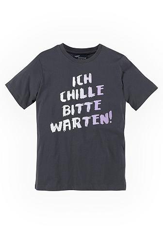 Футболка »ICH CHILLE BITTE WARTE...