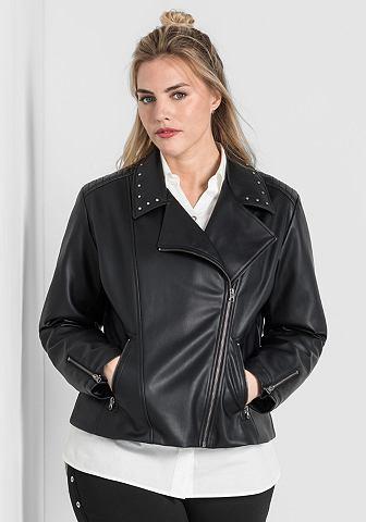 Sheego куртка из искусственной кожи