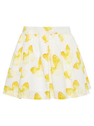 Schmetterlingsprint Baumwoll юбка