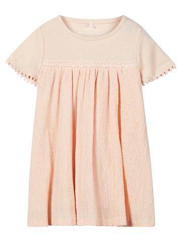 С коротким рукавом легкая ткань платье...