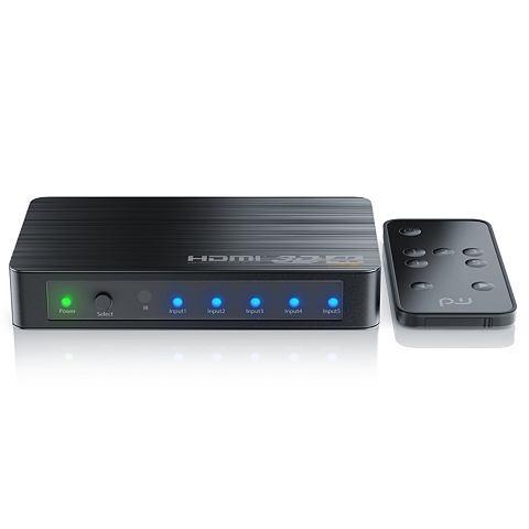 Ultra HD 4k 5-Port HDMI Umschalter вкл...