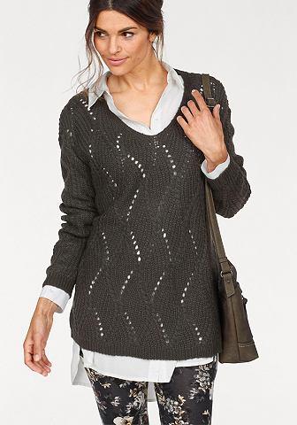 BOYSEN'S Пуловер с V-образным вырезом