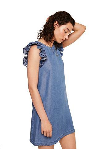 Платье с c воланами