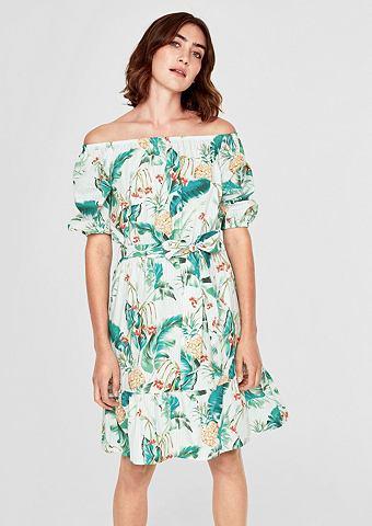 Buntes Off платье с открытыми плечьями...