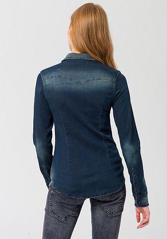 HERRLICHER Джинсовая блузка »Lilien Denim&l...