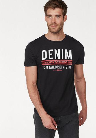 TOM TAILOR DENIM Tom Tailor джинсы блуза с круглым выре...